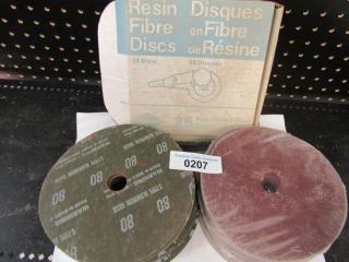 Sand Paper Discs. 7' Grit 80 Sheets 100