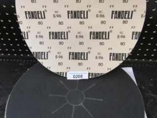 "Sand paper discs 15"" Fandeli Grit 80 Sheets 25"