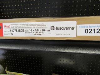 "Husqvarna Concrete 14"" x 1/8 x 20mm blades 10"