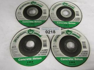 """4-Abmast Concrete blades 4.5"""" x 1/8"""" x 7/8' C24 R"""