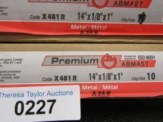 "16- Abmast metal A24R 14"" x 1/8"" x 1"""