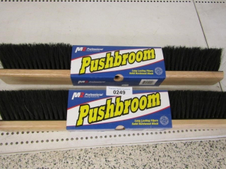 Pair of Push broom heads NEW