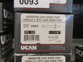 3-UCAN Headed-pin LV470 Super pint 6MM