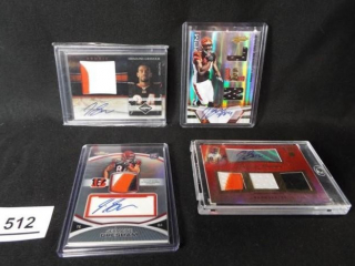 Football Jermaine Gresham Cards x 4