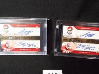Football OU Dual Signature Cards x 2