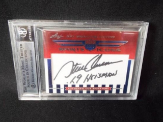 Football Owens and Lujack Signed Card