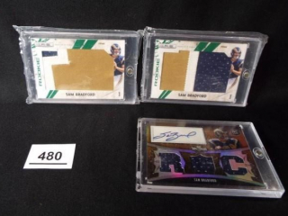 Football Sam Bradford Cards x 3