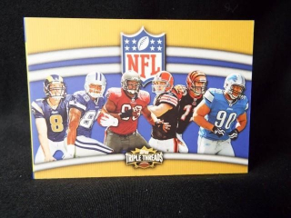 Football Triple Threads Combo Card