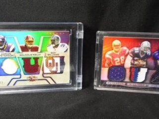 Football Triple Threads Combo Card x 2