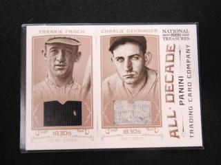 Frankie Frisch & Charlie Gehringer Baseball Card