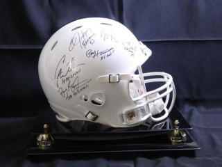 Heisman Helmet; signed by: Paul Hornung