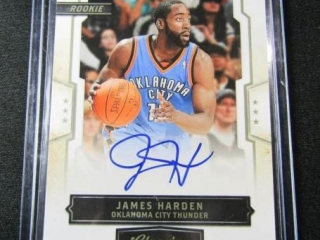 James Harden Autographed Basketball Card