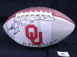 JC Watts Oklahoma University signed football