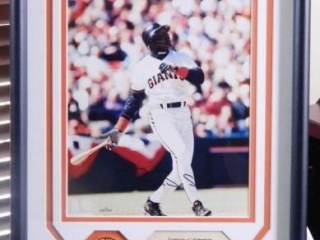 Barry Bonds Photo; COA; #054/250; Highland Mint
