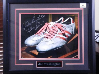 Joe Washington Silver Shoes; Signed