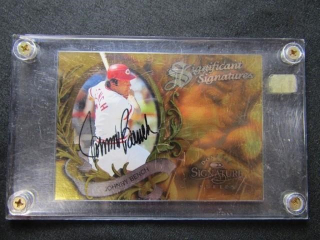 Johnny Bench Autographed Baseball Card