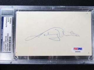 Johnny Unitas Autographed Postcard