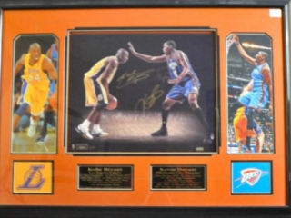 Kobe Bryant & Kevin Durant Autographed Photo