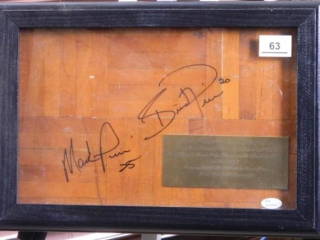 Mark Price Arena Basketball Court; Signed