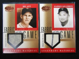 Mel Ott & Harmon Killebrew Baseball Cards