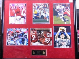 Oklahoma Sooners; Signed, Matted & Framed