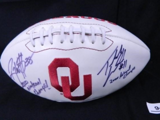 Oklahoma University Football Signed