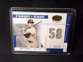 Baseball Duke Snider Jersey Card