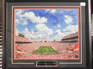 OU Stadium Photo w/ Legends Signatures