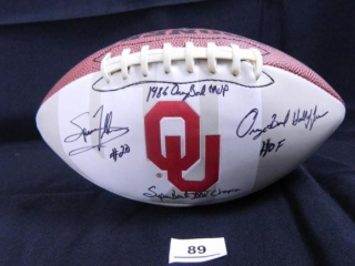 Spencer Tillman #20; Oklahoma Football signed