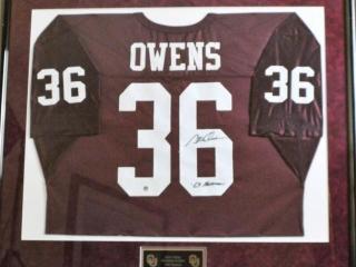 Steve Owens Signed Jersey