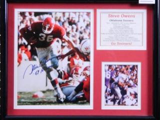 Steve Owens; Oklahoma Sooners; Signed