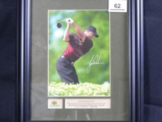 Tiger Woods; Upper Deck Collectible; w/quote