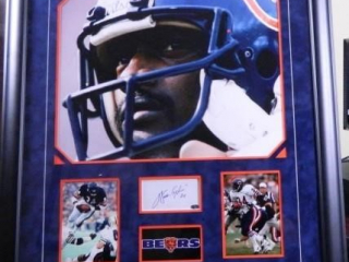 "Walter Peyton #34; Chicago Bears; 28"" x 32"""