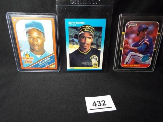 Baseball Maddux, Bonds, Jackson Cards