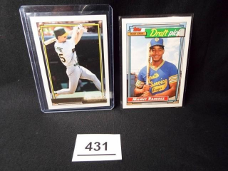 Baseball Manny Ramirez, Mark McGwire Cards