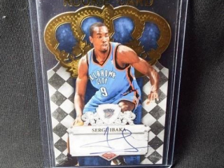 Basketball Serge Ibaka Signed Card
