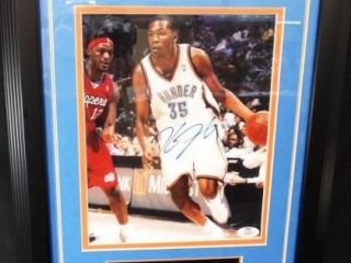 Basketball Thunder Durant Signed Photo