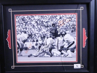 "Billy Sims and Bob Stoops Photo; 19"" x 23"""