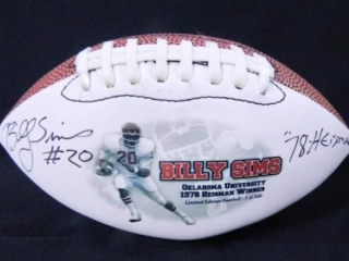 Billy Sims Heisman Commemorative Football