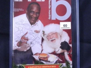 Billy Sims w/Santa; Bartlesville Monthly; 12/2012