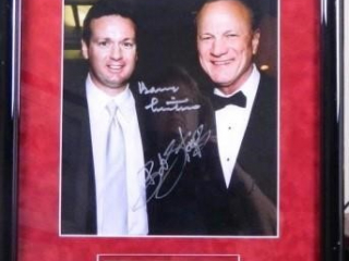 Bob Stoops & Barry Switzer; 11 X 14 Photo; Signed