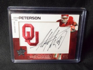Football Adrian Peterson Signed Card