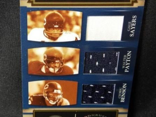 Football Benson & Payton & Sayers Card