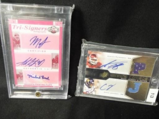 Football Combo Signature Cards x 2