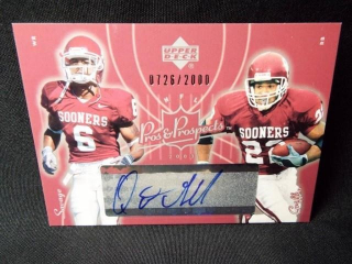 Football Griffin & Savage Signed Card