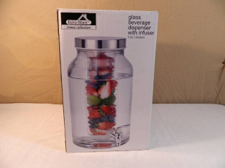 New Glass Beverage Dispener with Infuser