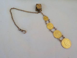 Pocket Watch Fob- Chain Gold Filled...