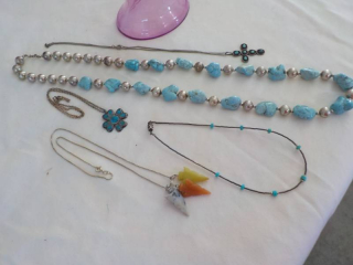 Turquoise, some with .925 Silver...