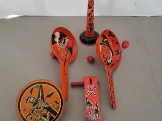 (5) Vintage Tin Halloween Noise Makers