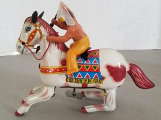 Vintage Indian Chief & Jumping Horse by